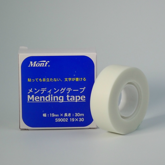 注文後の変更キャンセル返品 テープの上から文字が書ける 驚きの値段 コピーをしても目立たない 変色しにくい テープ 長期の使用に耐えられる メンディングテープ 図書館 1巻 本の補修 19mm×30M S9002