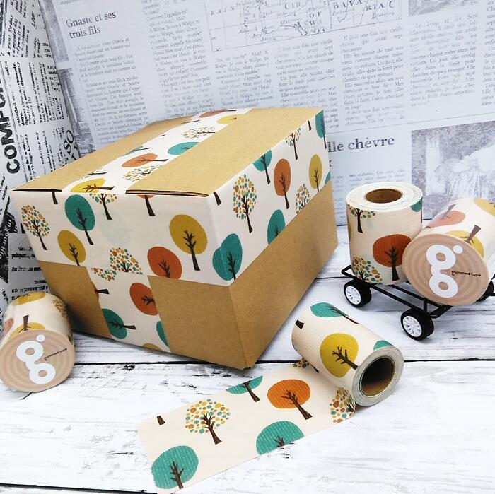 定番スタイル 送料無料 北欧 森 テープ 50mm 5M かわいい 梱包 スカンジナビア 柄 デザイン パーティー DIY ガムテープ 牛乳パック椅子 人気の定番 ラッピング