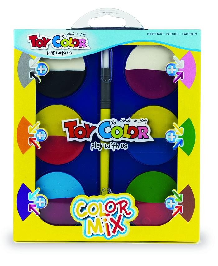 絵の具 絵具 タブレット ミックスカラー 幼児用 大人 水彩 64 送料無料 プレゼント イタリア製 おもちゃ 絵の具セット 毎週更新 玩具 ヨーロッパ かわいい ギフト 割引も実施中 クリスマス 男の子 女の子 3歳 画材 4歳 12色 5歳