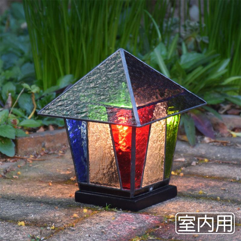 ステンドグラス ランプ ランタン 3 室内用卓上灯 テーブルランプ 室内照明 間接照明 100V照明器具 LED電球 対応 ステンドグラスガーデンライト 洋風 和風照明 おしゃれ照明