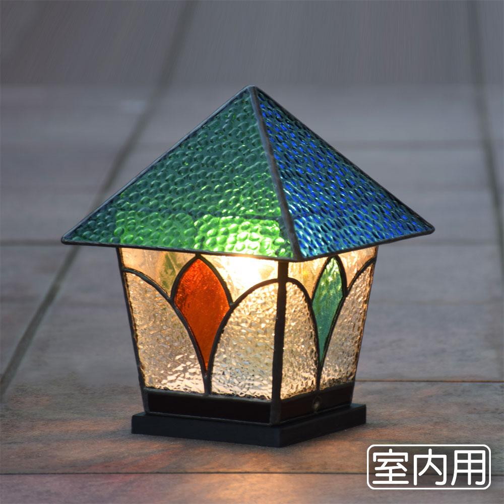 ステンドグラス ランプ ランタン 6 室内用 ガーデンライト 室内灯 卓上灯 テーブルランプ LED対応 洋風 和風 ガーデン照明 おしゃれ 癒し
