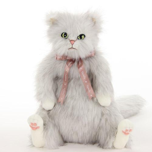 Cuddly(カドリー) ねこのぬいぐるみ 猫の「ココ/CoCo」 長毛 白ベース黒ミックス ゴールドーアイ【送料無料(沖縄県・一部離島は除く)】【smtb-TD】【saitama】