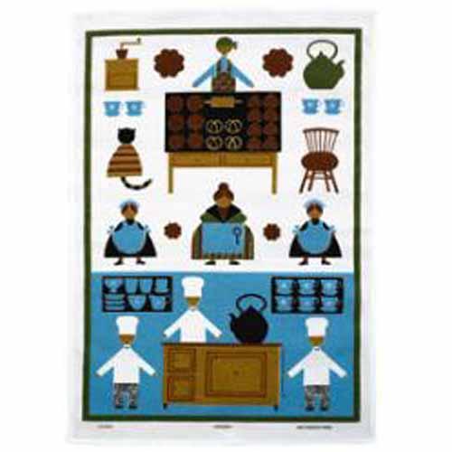 ゜ 新生活 ☆ 3枚までメール便もOK スマイリープライス アルメダールス almedahls ブルー カフェパーティー マーケット タペストリー メール便対応 キッチンタオル