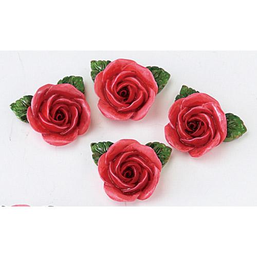 4個 4セット までメール便もOK ローズ 薔薇レッド 4個入り 数量限定アウトレット最安価格 販売期間 限定のお得なタイムセール マグネット メール便対応