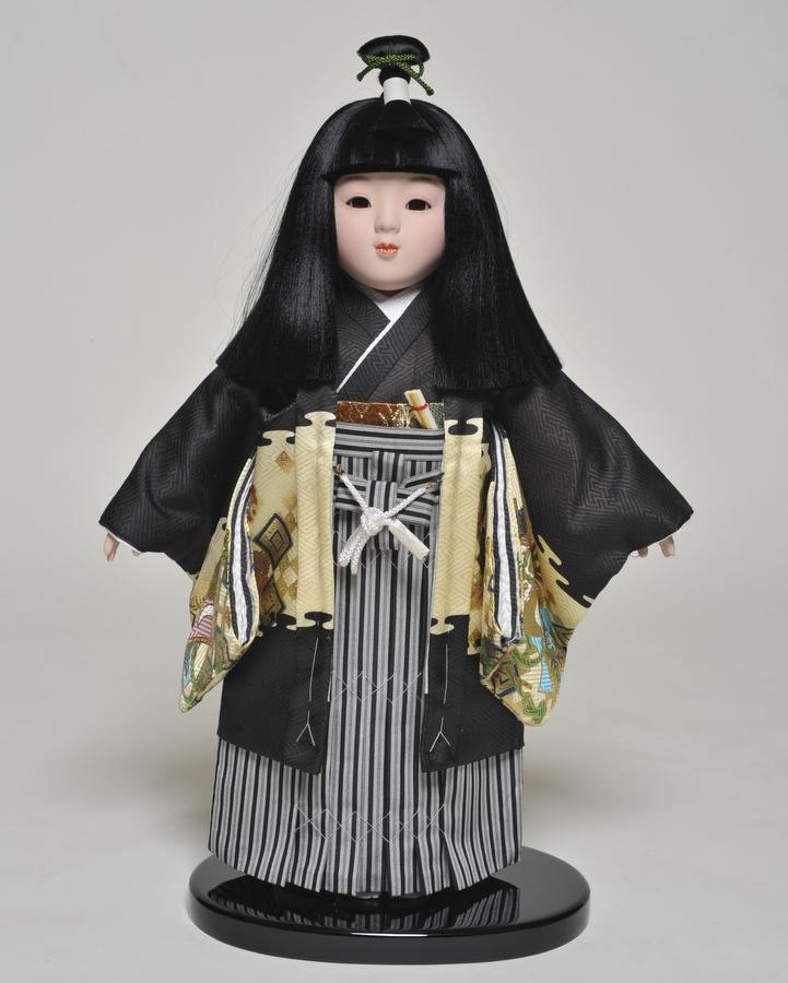 【市松人形】 12号市松人形 羽織袴姿 京華作【ひな人形】【浮世人形】