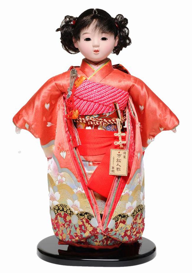 【市松人形】10号市松人形:金彩衣装(愛ちゃん):翠華作 【ひな人形】【浮世人形】