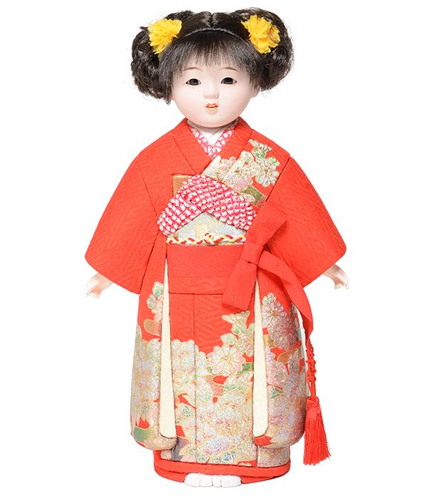 【市松人形】8号 木目込市松:草園作 【ひな人形】【浮世人形】