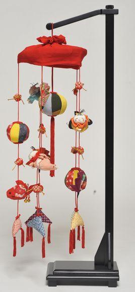 【つるし飾】【ひな人形】つるし雛 扇つるし飾:スタンド付【吊るし雛】【雛人形】