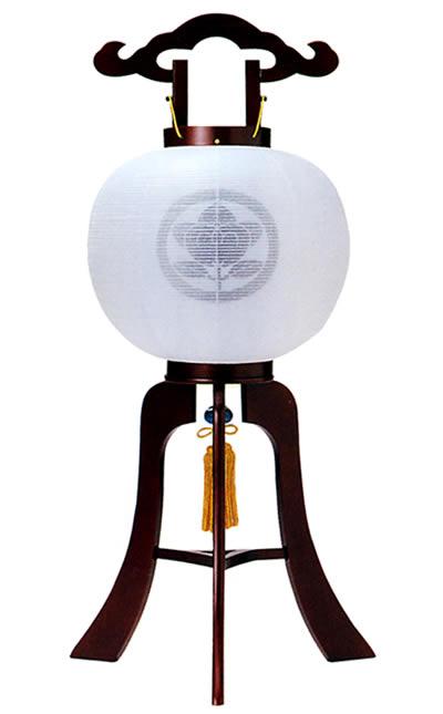 【盆提灯・盆ちょうちん】【送料無料!】家紋大内行灯10号「あずさ」白絹二重