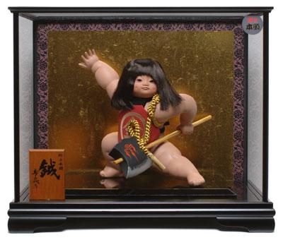 【五月人形】【ご進物ケース】金太郎 鉞 : 寿喜代作【武者人形】