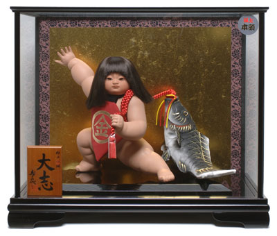 【五月人形】【ご進物ケース】金太郎:大志:寿喜代作【武者人形】