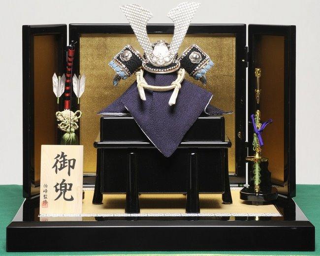 【五月人形】 『コンパクトサイズ』無双智兜セット:伯峰監修【兜】【兜飾】
