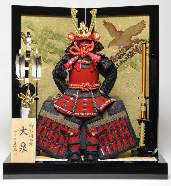 10号赤胴丸鎧:松に鷹屏風飾:景光作