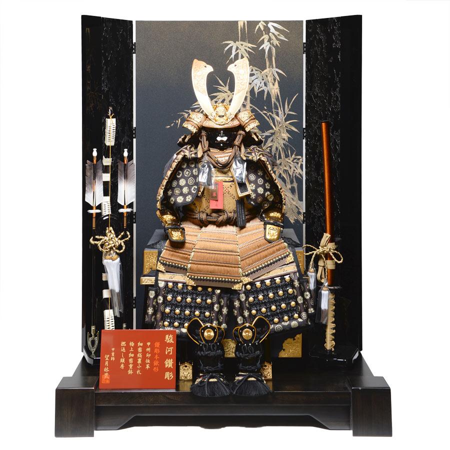 12号王者本仕立鎧石目塗屏風飾:望月林蔵作