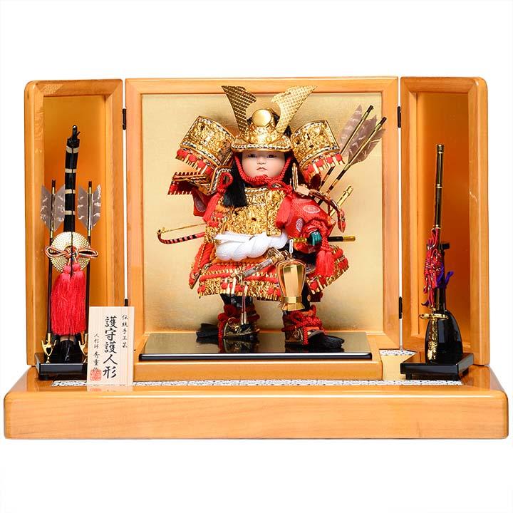 【五月人形】【子供武者】8号鎧着立武者:秀重作【大将飾】【立武者】