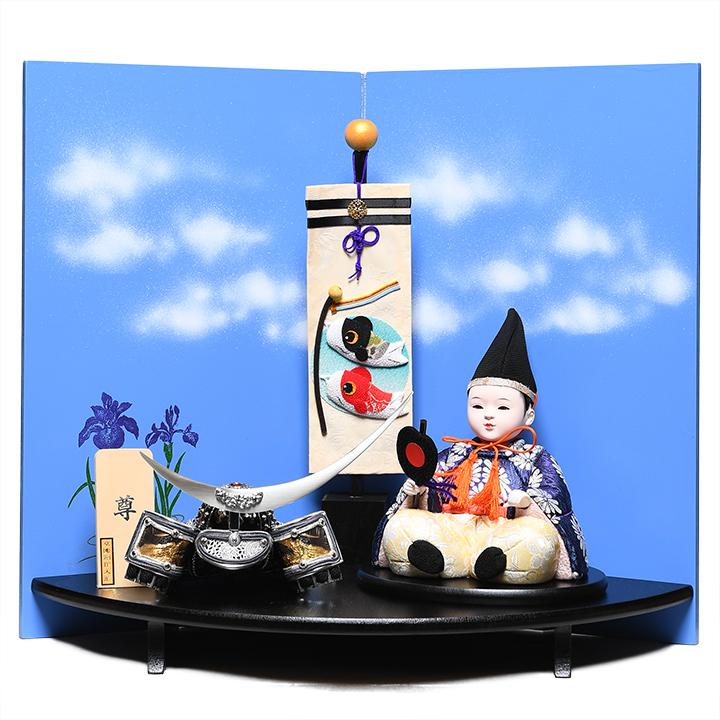 【五月人形】【子供武者】木目込大将飾「尊」草園創作工房【木目込大将飾】【赤ちゃん顔】