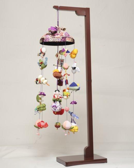 【五月つるし雛】傘付桃太郎吊るし飾り:中 スタンド付き【室内鯉のぼり】