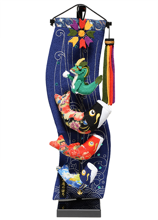 【五月人形】【室内鯉のぼり】【つるし飾り】室内鯉幟:登竜門伝説(特小)【こいのぼり】