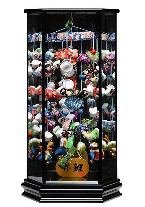 【五月人形】【つるし飾り】五月つるし雛昇鯉「Shori」黒【室内鯉のぼり】【端午の吊るし飾り】