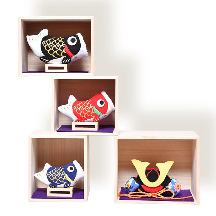 低価格 日本全国送料 トラスト 手数料無料 五月人形 こいのぼり 室内鯉のぼり 兜と鯉の升飾り