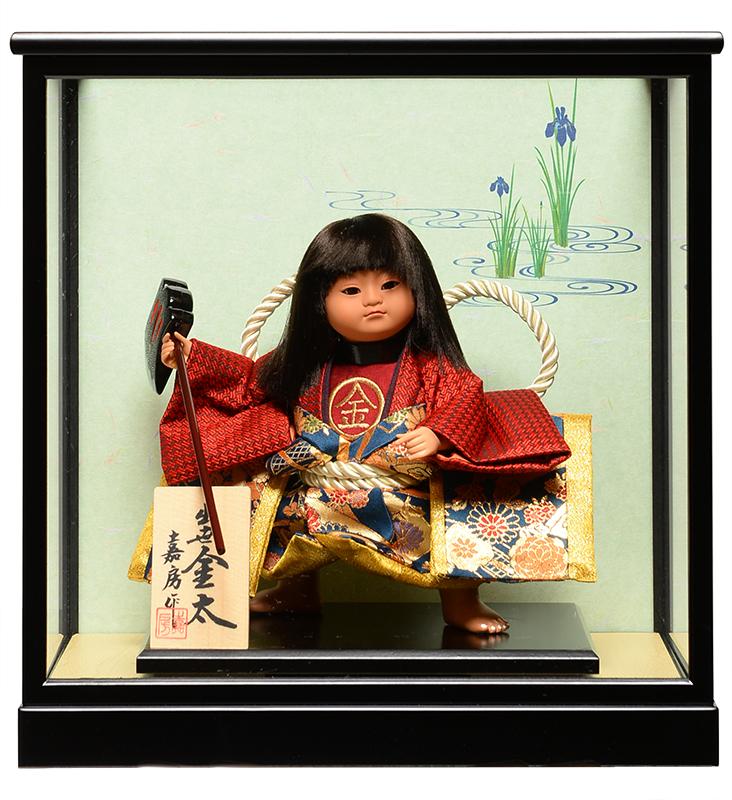 【五月人形】【武者人形】ご進物用ケース 6号出世金太:鉞嘉房作【ご進物ケース】