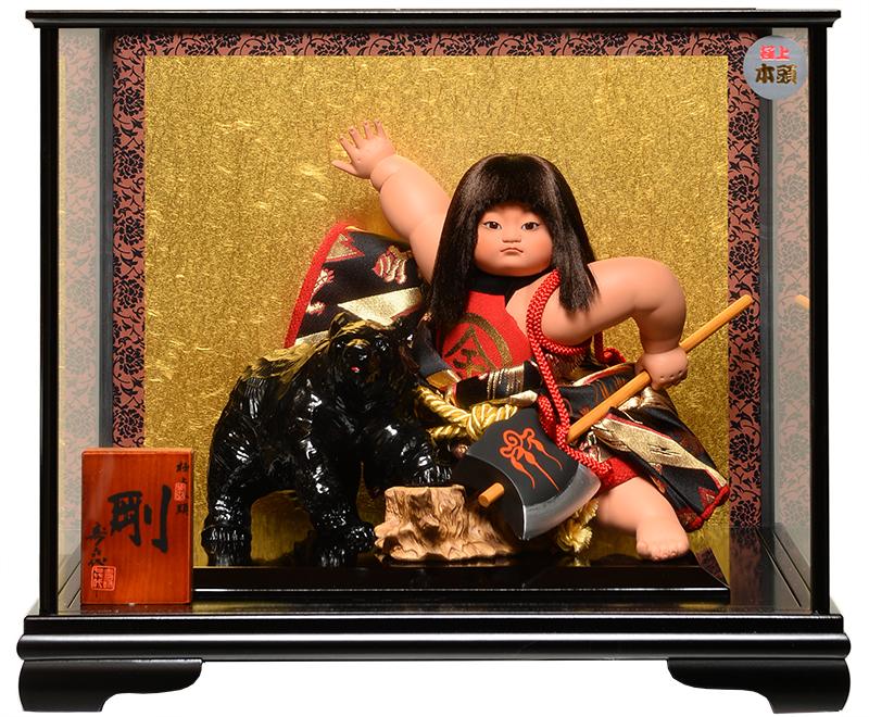 【五月人形】【武者人形】ご進物用ケース 鉞金太郎:剛:寿喜代作【ご進物ケース】