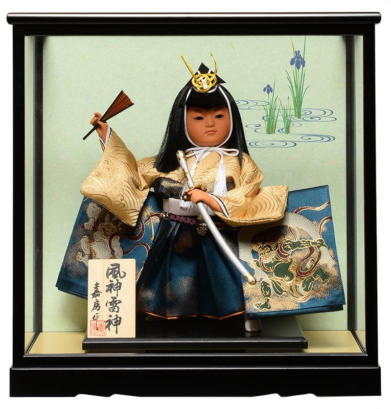 【五月人形】【武者人形】ご進物用ケース 8号風神雷神:祝太刀:嘉房作【ご進物ケース】