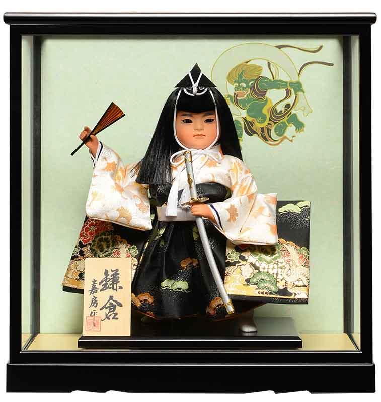 【五月人形】【武者人形】ご進物用ケース7号鎌倉:祝太刀 :嘉房作【ご進物ケース】