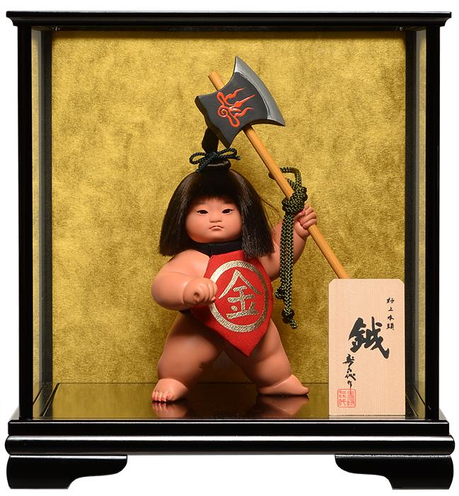 【五月人形】【武者人形】ご進物用ケース 金太郎 鉞金太:寿喜代作【ご進物ケース】