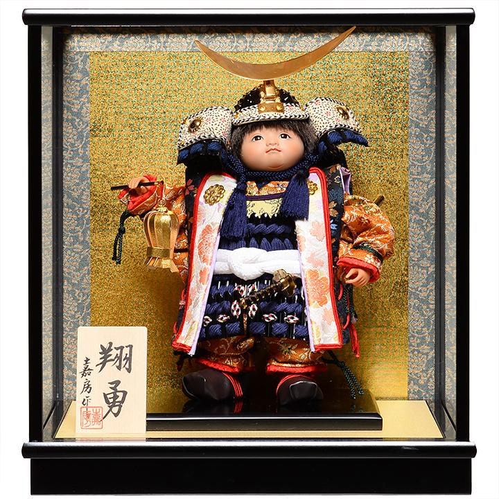 【五月人形】【武者人形】ご進物用ケース 5号翔勇 嘉房作【ご進物ケース】