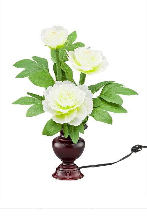 盆提灯 盆ちょうちん 日本全国送料 手数料無料 低価格化 花立ルミナス4号 白牡丹 使い勝手の良い 蓮華灯 新盆