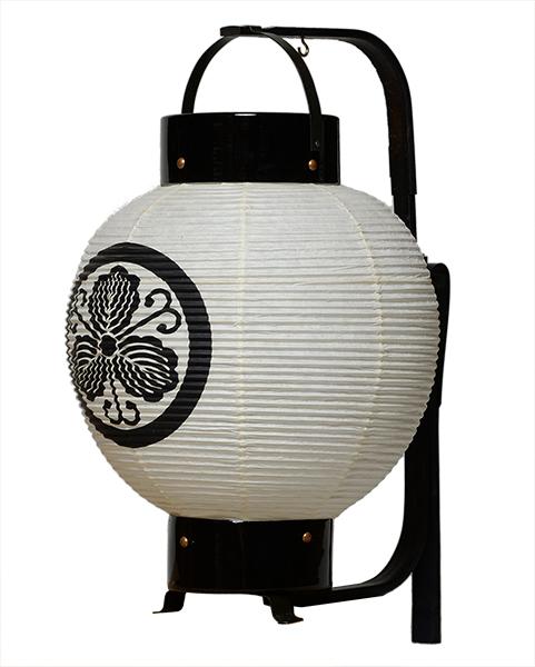 【盆提灯・盆ちょうちん】【送料無料!】弓張提灯「新九子弓張」+家紋箱