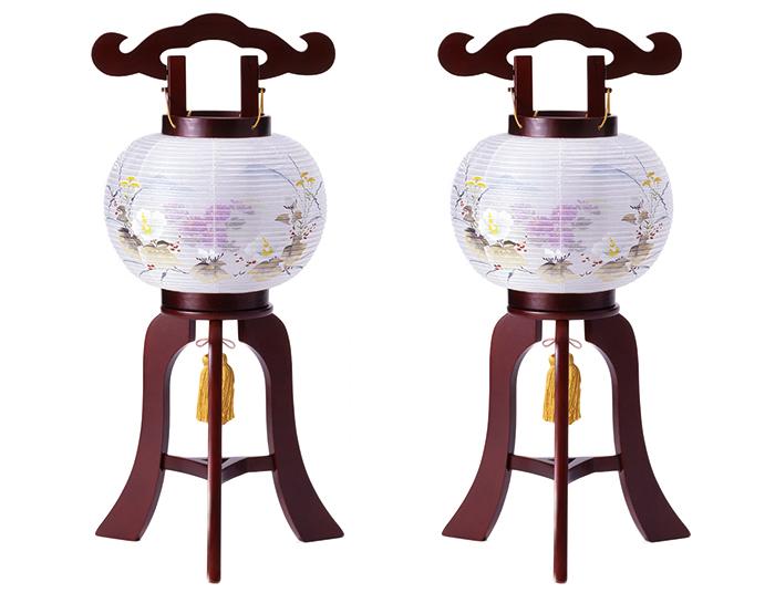 【大内行灯】6号まどかワイン 一対【盆提灯】