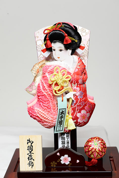 A battledore 8 cherry tree: A fawn long-sleeved kimono raised pictures battledore: Karin coat acrylic case, The Fushimi-ya supervision