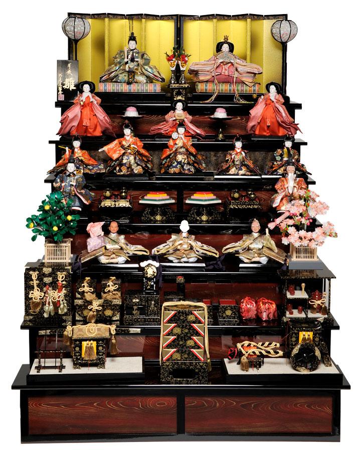 【雛人形 十五人飾】【雛人形】十番親王三五十三人飾:鎌倉雛:伏見屋監修【ひな人形】