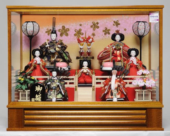 【雛人形】七人三五親王芥子五人飾:宝仙作【雛人形】【ひな人形】