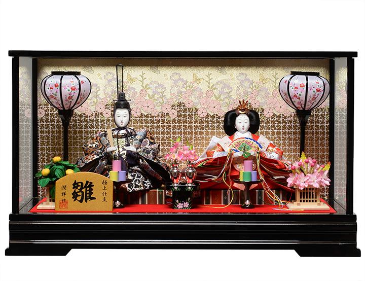 【雛人形】【雛ケース】三五親王ケース:潤祥作:漆黒塗ケース【ひなケース】【ひな人形】