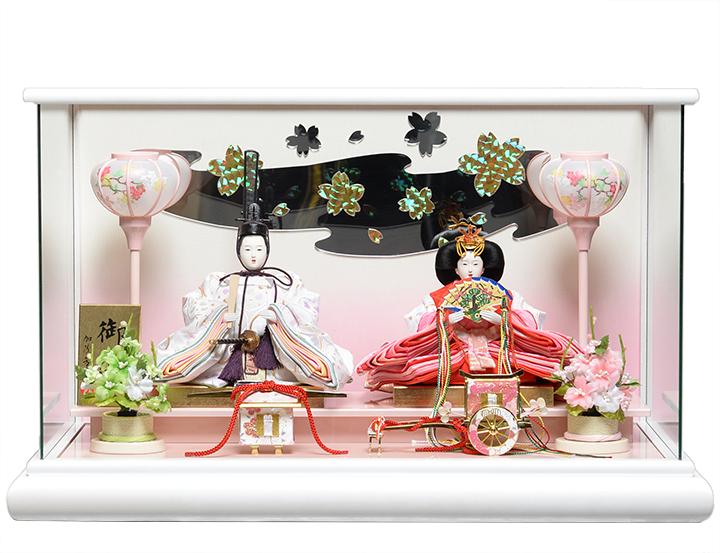 【雛人形】【雛ケース】芥子親王クリスタルホワイトパノラマケース:加茂芳春作【ひなケース】【ひな人形】