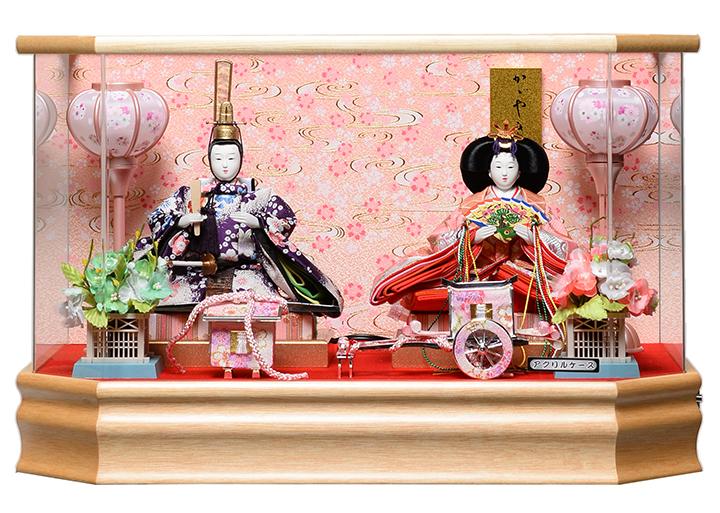 【雛人形】【雛ケース】芥子親王ケース:パノラマアクリルケース:藤翁作【親王飾】【ひな人形】