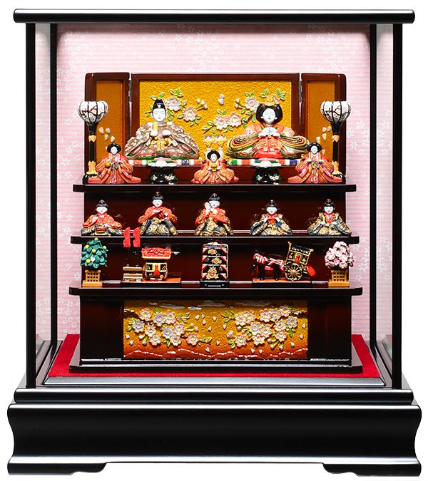 【雛人形】【雛ケース】創作雛段飾りケース:伏見屋監修【創作雛】【ひな人形】【ひなケース】