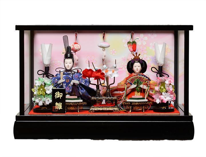 【つるし雛】【ひなケース】芥子親王つるし雛付漆黒塗ケース:美光作【雛人形】【ひな人形】