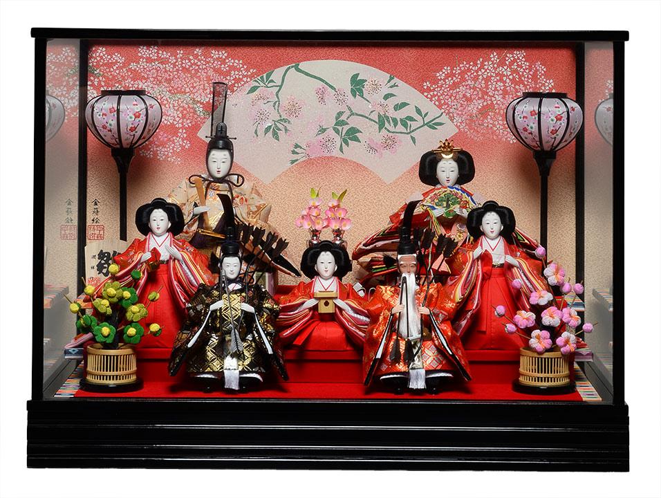 【ひなケース】ひなケース三五親王:芥子七人オルゴール付ケース:潤祥作【雛人形】【ひな人形】