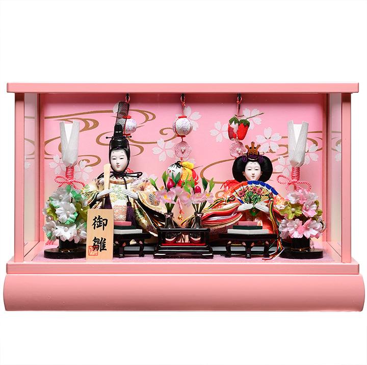 【雛人形】【雛ケース】【親王飾】小芥子親王つるし雛付ケース:美光作【ひな人形】