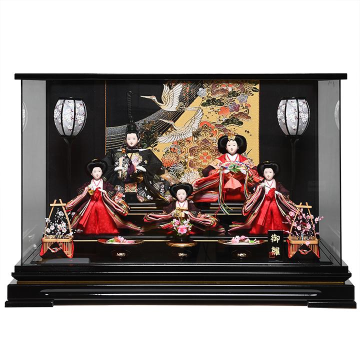 【ひなケース】芥子親王柳官女 伏見屋監修 オルゴール付ケース【雛人形】【ひな人形】