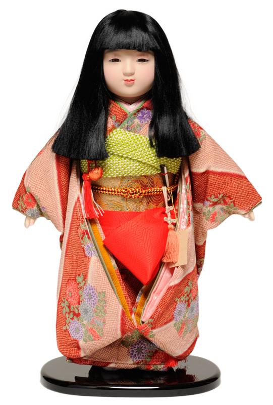 【市松人形】13号市松人形 縮緬衣裳【オカッパ】 翠華作【ひな人形】【浮世人形】