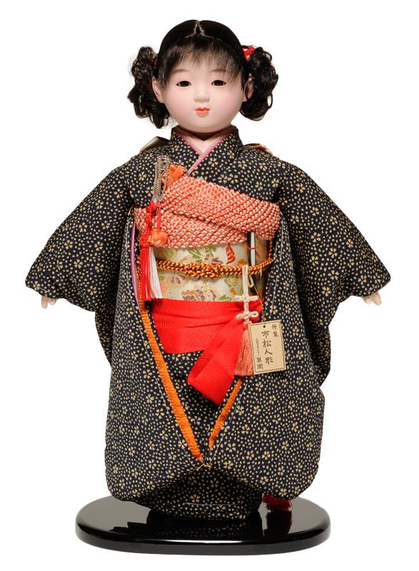 【市松人形】13号市松人形:友禅衣裳【おかっぱ】:翠華作【ひな人形】【浮世人形】