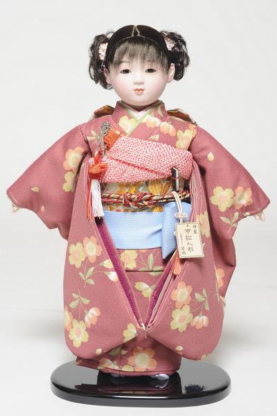 【市松人形】 13号市松人形 京友禅衣装【カール】 翠華作【ひな人形】【浮世人形】