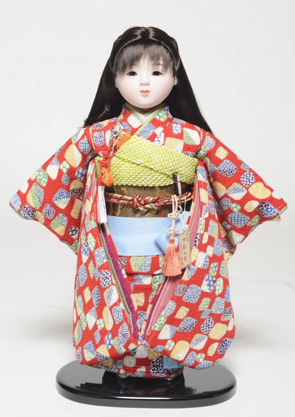 【市松人形】13号市松人形 縮緬衣裳(大正ロマン風) 翠華作 【ひな人形】【浮世人形】