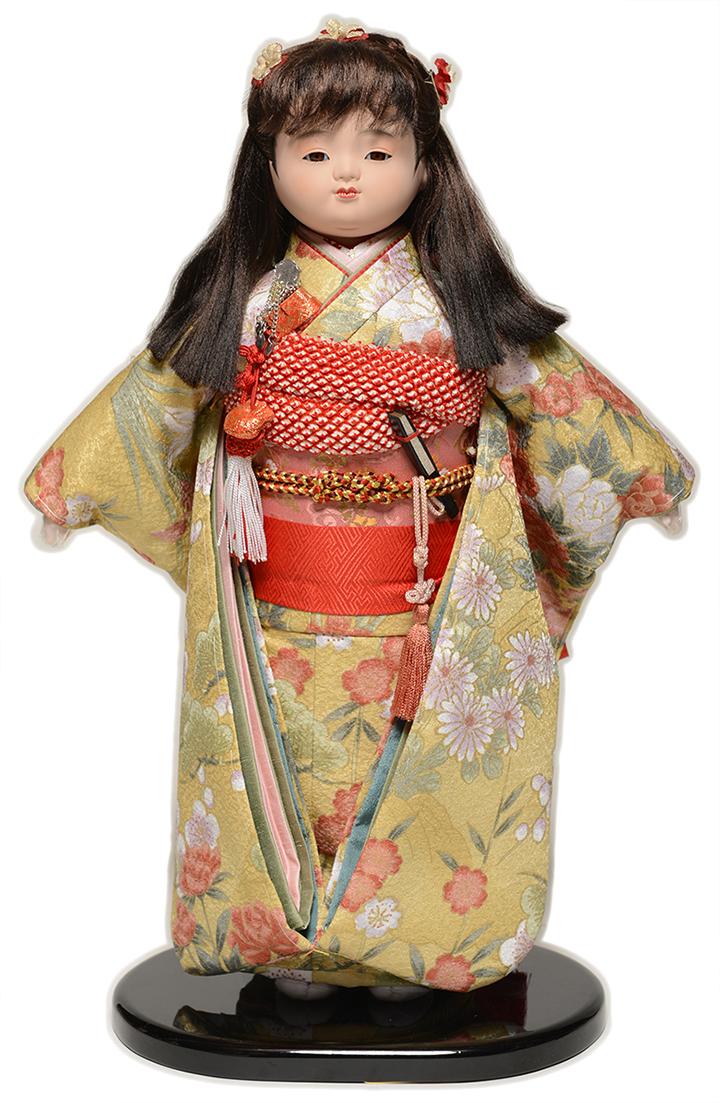 【市松人形】10号市松人形:綸子衣装(大正ロマン):翠華作【ひな人形】【浮世人形】