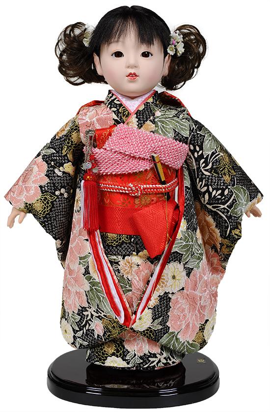 【市松人形】10号市松人形:京染衣装 愛ちゃん:公司作 【ひな人形】【浮世人形】